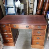 VINTAGE ALL WOOD DESK - EULER COMPANY in Plainfield, Illinois