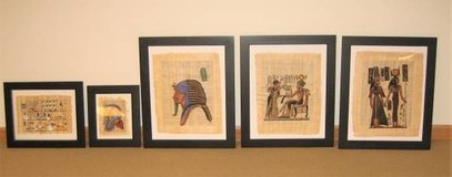 ARTWORK - Egyptian Parchment Paintings - Framed - 5 Different in St. Charles, Illinois
