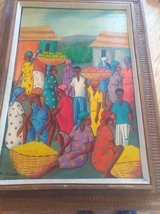 Original Haitian Painting by Maurice Guerre in Fort Leavenworth, Kansas