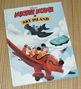 Rare Vintage 1990 Disney Mickey Mouse In Sky Island 1st Edition Hard Cover Book in Joliet, Illinois