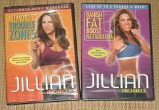 2 NEW Jillian Michaels DVD Banish Fat Boost Metabolism No More Trouble Zones Lot in Yorkville, Illinois