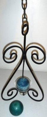 New! Hanging Metal / Glass Candle Holder - Home Decor in Naperville, Illinois