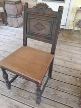 Antique wood chair in The Woodlands, Texas