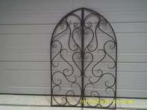 WALL ART  /  WALL HANGER GATE MOTIF ALL METAL in Chicago, Illinois