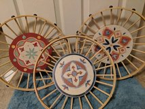 Lot of 3 Round Bamboo Tray Wall Decor- $3 for all in Fort Campbell, Kentucky