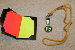 Soccer Referee Set - Penalty Cards, Whistle & Cord, Flipping Coin in Chicago, Illinois