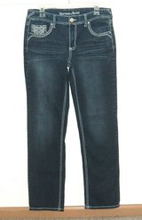 Rhythm In Blues MARIAH Thick Stitch Straight Leg Denim Jeans Womens 10 Reg in Chicago, Illinois