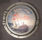 Stroh's Beer Nautical Themed Lighted Advertising Sign in Glendale Heights, Illinois