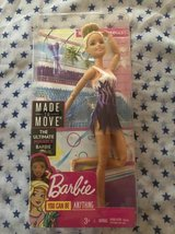 Barbie Made To Move Doll, Rhythmic Gymnast, FJB18, Barbie Doll Articul in Naperville, Illinois
