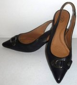 Sz 7M Joan & David Black Leather Sling Back Heels / Pumps ~EUC in Orland Park, Illinois