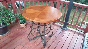 Powell 697-441 Hamilton Round Curved Gathering Table Red Oak Metal in Westmont, Illinois