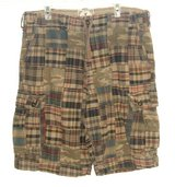 American Eagle Camouflage Plaid Longer Length Cargo Shorts Tag 34 Measures 36 in Yorkville, Illinois