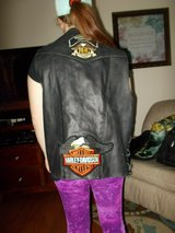 Men's 3X UNIK Leather Vest Harley-Davidson in Clarksville, Tennessee