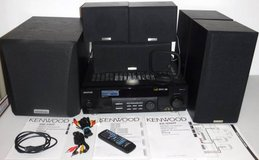 Kenwood Audio Video Stereo Surround System -Receiver Subwoofer 5 Speakers + in Orland Park, Illinois