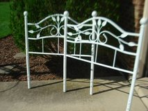 twin size white metal headboard & footboard in Naperville, Illinois