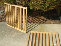 set of 2 wooden pet/child gates in Naperville, Illinois