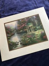 Thomas Kinkade The Garden Of Prayer Matted Collector Print 8x10 w/COA in Naperville, Illinois