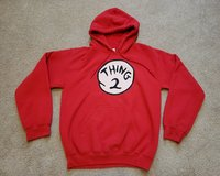 DR SUESS THING 2 SWEATSHIRT HOODIE ADULT SMALL in Naperville, Illinois
