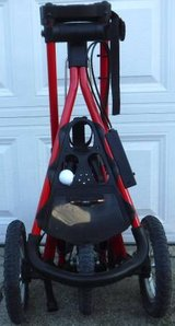 Like New! Compact 3 Wheel Golf Club Push Cart in Joliet, Illinois