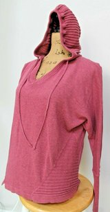 Akini Active Wear Comfy Hooded Pullover Sweater, Ribbed Detail, Dusty Rose, Medium in Westmont, Illinois