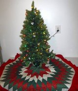 3' ft Christmas Tree w/lights + Tree Skirt in Bolingbrook, Illinois