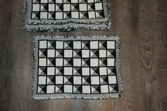 Set of 6 Black & White Cloth Placemats in The Woodlands, Texas
