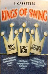 NEW Vintage 2000 Kings Of Swing 3 Audio Cassettes 30 Song Box Set Benny Goodman, Count Basie, Gl... in Chicago, Illinois
