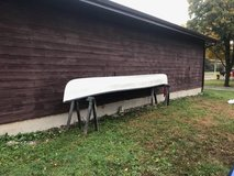 Sawyer Oscoda Famil 17' Fiberglass Canoe w/ Paddles and Lifejackets in Chicago, Illinois
