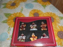 Mini Blown Glass Gingerbread Man House Ornaments! Set of 6 in Spring, Texas
