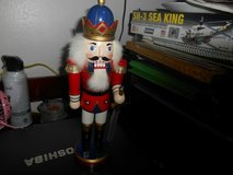 """12"""" Wood Nutcracker Royalty with Sword in Spring, Texas"""