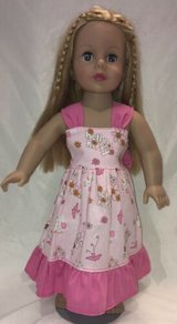 """Handmade pink hello kitty dress fits american girl 18"""" Dolls in Yucca Valley, California"""
