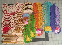 90 mix lot birthday & baseball fabric cut outs, appliques, quilting Scrapbooking in Yucca Valley, California
