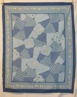 abc patchwork jean look quilt top fabric craft panel in Yucca Valley, California