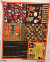 debbie mumm spooky town treat bags halloween fabric craft panel in Yucca Valley, California