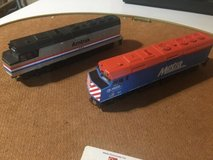 ho scale vintage amtrak and metra locomotive with  3 cars in Plainfield, Illinois