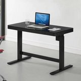 Office desk black computer table Tresanti Adjustable Height Desk in Westmont, Illinois