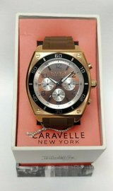 caravelle watch, browntone ,round face cilicone band , 45a114 in Camp Lejeune, North Carolina