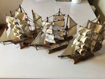 LOT OF 3 WOODEN MODEL SHIPS in Chicago, Illinois