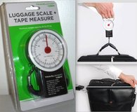 New! Conair TRAVEL SMART  Luggage Scale w/ Tape Measure in Naperville, Illinois