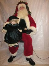 HEN HOUSE Joyce Ditz Designs 2003 Girl Sitting on Santa's Lap w/ Doll in Bolingbrook, Illinois