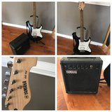 Yamaha Electric Guitar with Boom Box in Bolingbrook, Illinois