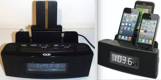 Dok 3-Port Smartphone Charger w/ FM Clock Radio and Alarm Clock in Orland Park, Illinois