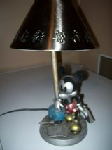 disney hampton bay 2002 table lamp with metal shade mickey mouse at the ink well in Westmont, Illinois