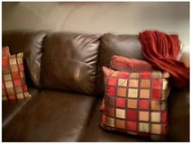 Faux Leather Living Room Set by Ashley in Chicago, Illinois