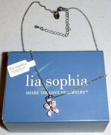 New! Lia Sophia Pink Butterfly Necklace in Orland Park, Illinois