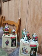 """2 Boxes of """"International Santa Collectibles"""" ( figurines + matching ornaments) in Spring, Texas"""