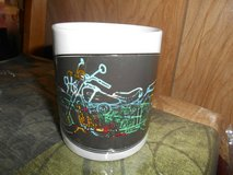"""New Ceramic Multicolored Motorcycle Coffee Mug Cup! 4"""" Tall in Spring, Texas"""