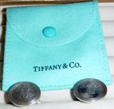 """Tiffany & Co. Sterling Silver Cuff Links w/Initial """" M """" engraved in Orland Park, Illinois"""