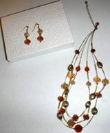Gold/Amber Ivory Necklace + Matching Earrings in Orland Park, Illinois