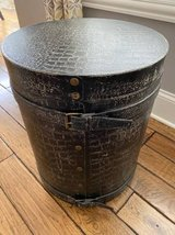 Black Faux-Skin Storage End Table in Westmont, Illinois